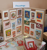Decoupage cards at the Craft Show.
