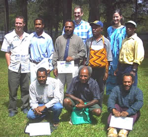 Sivini [front row, right] at the Translators' Training Course